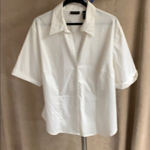 Women's cream button-down top